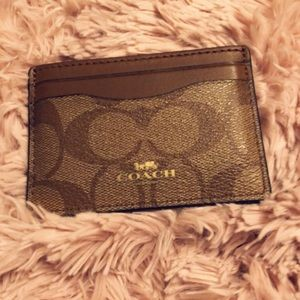 Coach Accessories - Coach cardholder brown